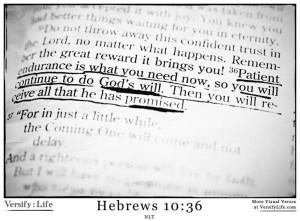 Hebrews 10-36