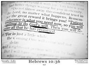 Hebrews 10-36