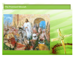 Zechariah Palm Sunday