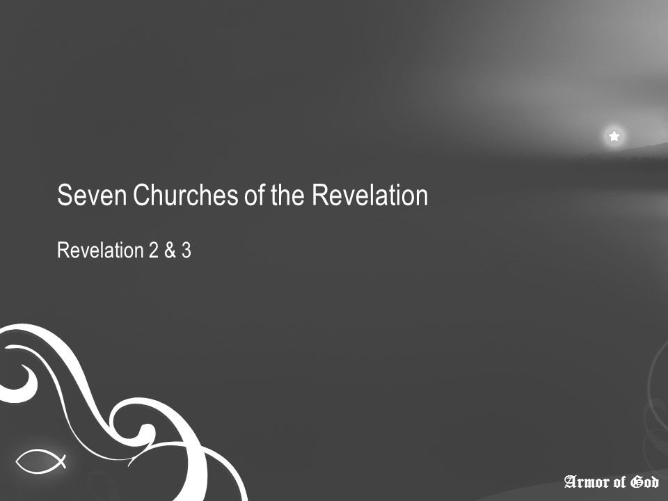 A Study Outline Of Revelation - Church of Christ